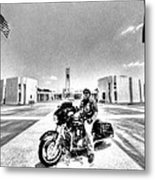 Standing Watch At The Houston National Cemetery Metal Print by David Morefield