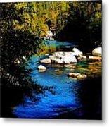 Stanislaus River Metal Print by Helen Carson