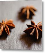 Star Anise On Slate Tray Metal Print by Alexandre Fundone