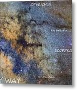 Star Map Version The Milky Way And Constellations Scorpius Sagittarius And The Star Antares Metal Print