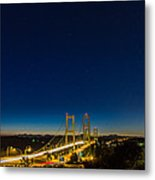 Star Night Over The Narrows Metal Print