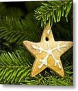 Star Shape Short Bread Cookie Metal Print