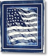Star Spangled Banner Blue Metal Print