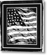 Star Spangled Banner Bw Metal Print