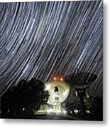 Star Trails Over Parkes Observatory Metal Print by Alex Cherney, Terrastro.com