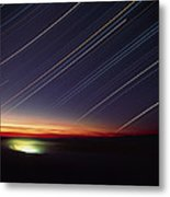 Star Trails Over Queen Charlotte City, Canada Metal Print by David Nunuk
