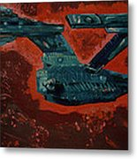 Star Trek Triptec Metal Print by David Karasow