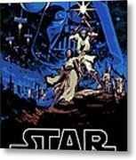 Star Wars Poster Metal Print