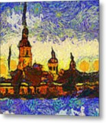 Starred Saint Petersburg Metal Print