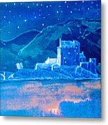 Starry Night Eilean Donan Castle Metal Print