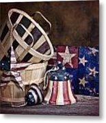 Stars And Stripes Still Life Metal Print by Tom Mc Nemar