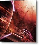 Starships Hone Their Skills Metal Print