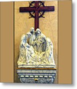 Station Of The Cross 14 Metal Print