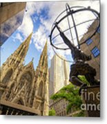 Statue And Spires Metal Print