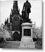 Statue Of David Livingstone Outside Glasgow Cathedral Scotland Uk Metal Print by Joe Fox