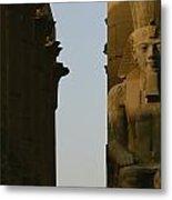 Statue Of Ramses II In The Luxor Temple Metal Print by Kenneth Garrett