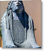 Statue Outside Museum Metal Print