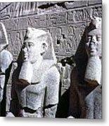 Statues Of Ramses II Metal Print by Granger