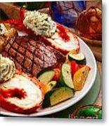 Steak And Lobster Metal Print