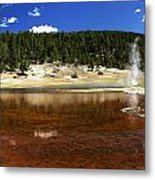 Steam At Firehole Lake Metal Print