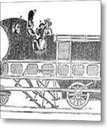 Steam Coach Metal Print