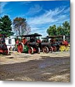 Steam Engines Lined Up Metal Print