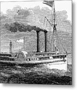 Steamboat, 1850 Metal Print