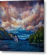 Steamboat On The Hudson River Metal Print