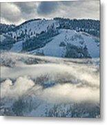 Steamboat Ski Area In Clouds Metal Print