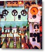 Steampunk - Electrical Control Room Metal Print