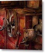 Steampunk - Gear - It Used To Work Metal Print by Mike Savad