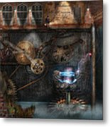 Steampunk - Industrial Society Metal Print