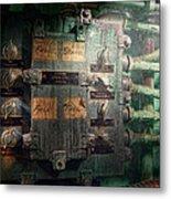Steampunk - Naval - Electric - Lighting Control Panel Metal Print