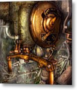 Steampunk - Naval - Shut The Valve  Metal Print