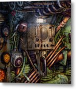 Steampunk - Naval - The Comm Station Metal Print