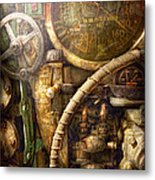 Steampunk - Naval - Watch The Depth Metal Print by Mike Savad