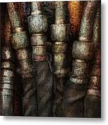 Steampunk - Pipes Metal Print