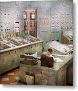 Steampunk - Retro - The Power Station Metal Print