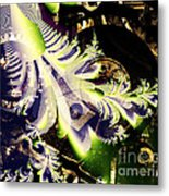 Steampunk Abstract Fractal . S2 Metal Print
