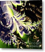 Steampunk Abstract Fractal . Square . S2 Metal Print