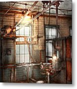 Steampunk - Machinist - The Grinding Station Metal Print