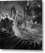 Steampunk Noir Metal Print