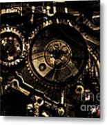 Steampunk Personal Decompression Chamber Model 39875da78803 Fully Accessorized . Gold Plated Luxury  Metal Print by Wingsdomain Art and Photography