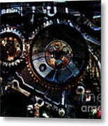 Steampunk Personal Decompression Chamber Model 39875da78803 Fully Accessorized Metal Print