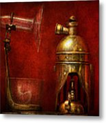 Steampunk - The Torch Metal Print