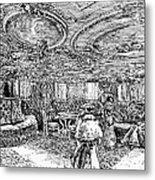 Steamship Salon, C1890 Metal Print by Granger