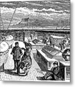 Steamships: Deck, 1870 Metal Print