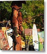 Steel Gunfighter Metal Print
