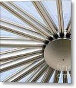 Steel Sun Metal Print