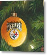 Steelers Ornament Metal Print